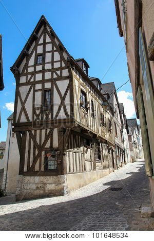 Medieval Half-timbered House In Chartres, France.
