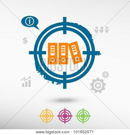 Binders Vector Icon On Target Icons Background