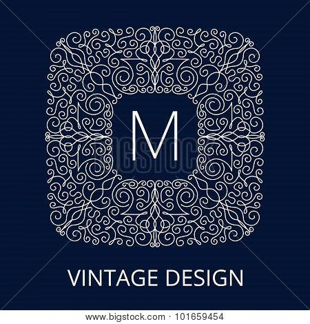 Luxury Vintage Blue Frame for Monogram