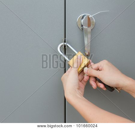Photo Of Woman Hand On The Key.