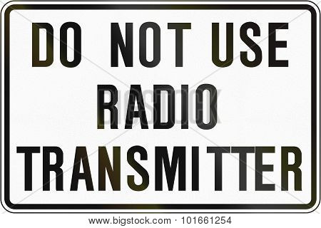 Resume Use Of Radio Transmitter In Canada