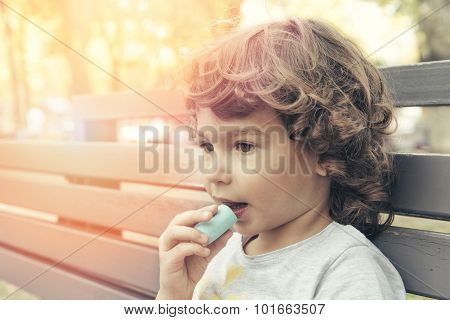 Child Eating Marshmallow