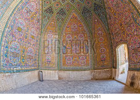 Nasir al-Mulk Mosque decoration fisheye