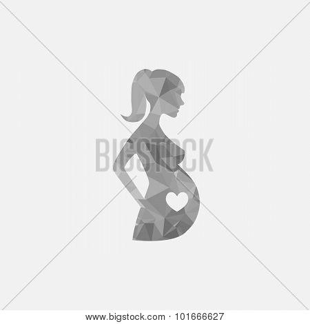 Pregnant Woman Sign Icon Vector. Women Pregnancy Symbol.