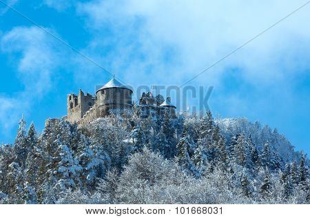 Ehrenberg Castle Winter View (austria, Bavaria).