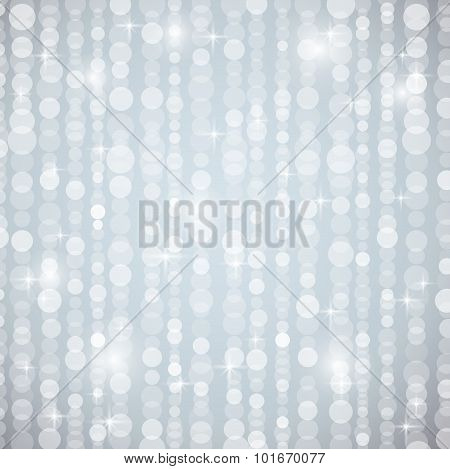 Silver Brightnes Illustration Suitable For Christmas Or Disco Backround, Vector