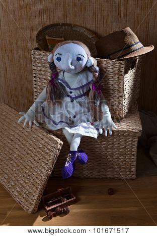Handmade Doll In White Dress