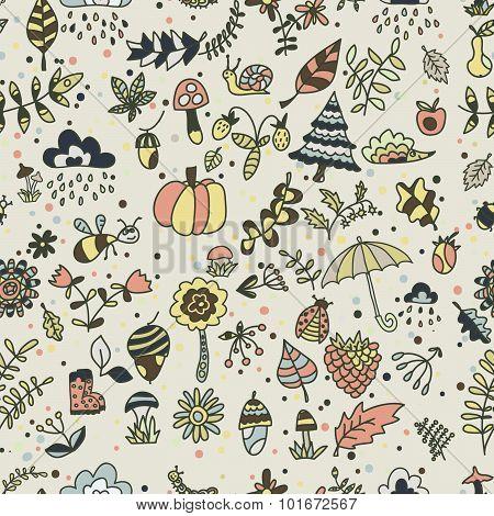 Autumn in forest Pattern
