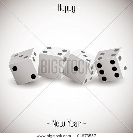 Dice 2016 Happy New Year background