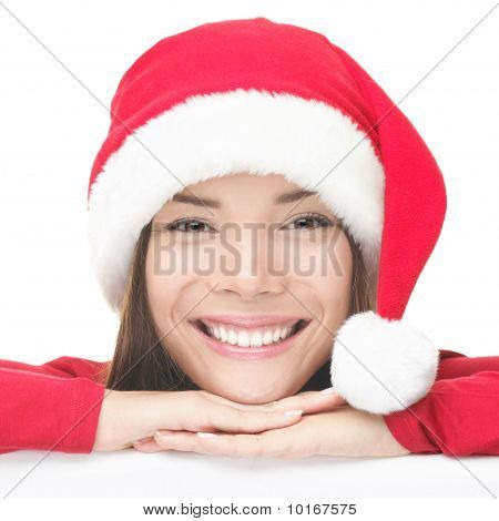 Happy Christmas Santa Woman