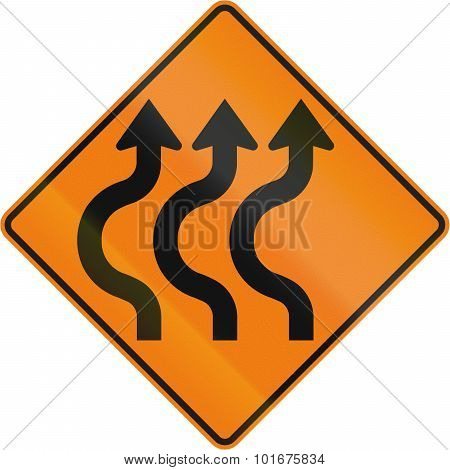 Triple Two-reverse Curve To The Left In Canada