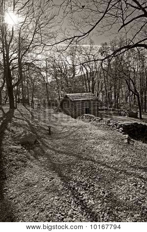Blue Ridge Moutains 19th Century Log Livestock Barn