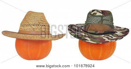 Halloween Pumpkins in Hats