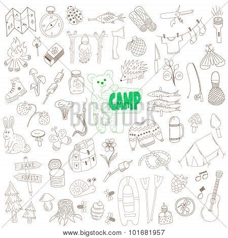 Doodle Camping Elements