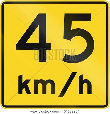 Speed Limit 45 Kmh In Canada