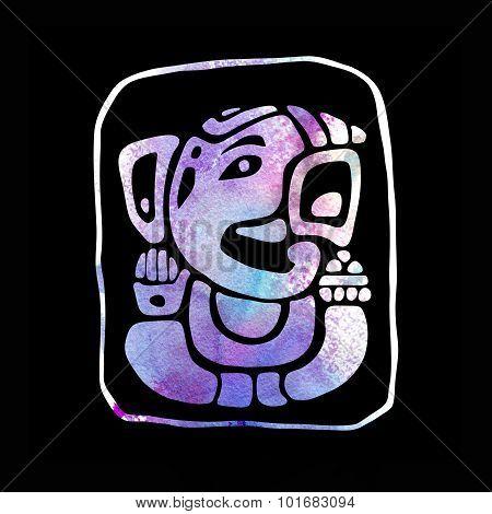 Ganapati. Hindu God Ganesha.