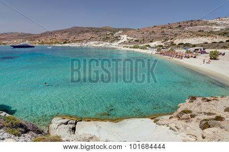 Prassa beach, Kimolos island, Cyclades, Greece