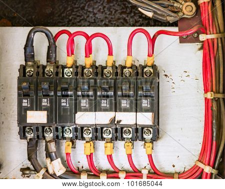 Main Circuit Box Breaker In Factory.
