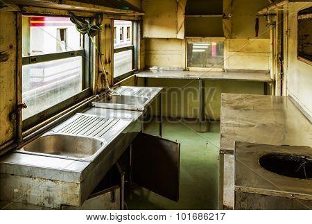 Kitchen Unavailable With Cobweb In The Train.