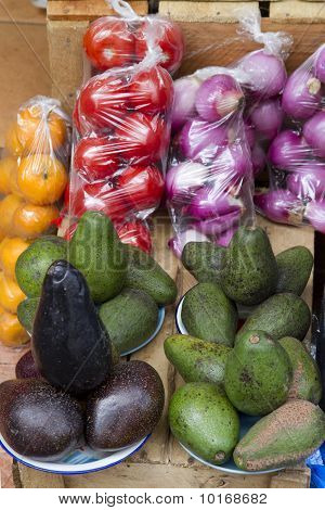 Fruits At A Market