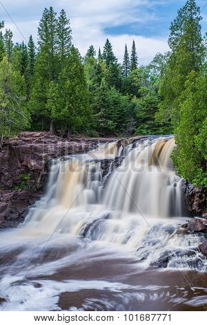 Upper Falls At Gooseberry Falls State Park