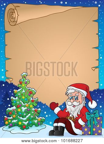 Parchment with Christmas thematics 1 - eps10 vector illustration.
