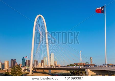 Dallas City Skyline At Twilight