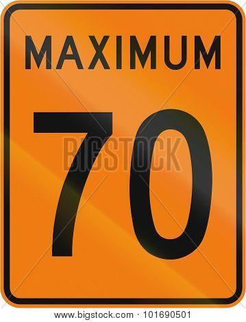 Temporary Maximum Speed 70 Kmh In Canada