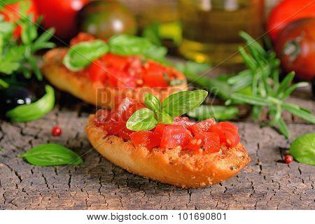 Italian Bruschetta With Tomatoes
