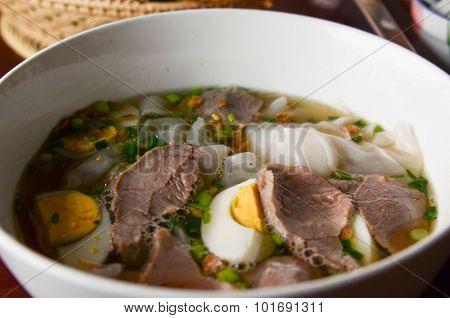 Thai Soup With Pork
