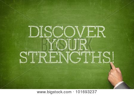 Discover your strengths text on blackboard