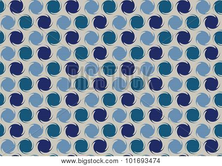 Pattern Of Rotating Circles In Blue Hue