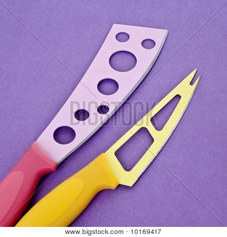 Set Of Modern Kitchen Knives