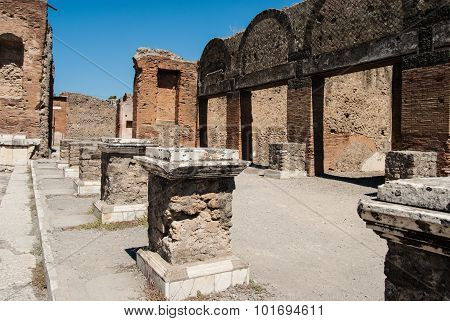 Pompeii Is A Ruined And Partially Buried Roman Town-city Near Modern Naples In The Italian Region Of