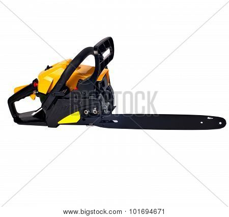 Rough  Chain Saw Side View Isolated On White