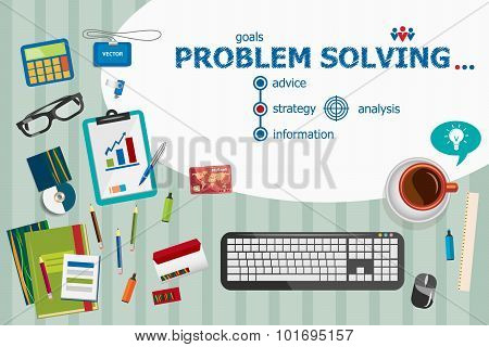 Problem-solving Design And Flat Design Illustration Concepts