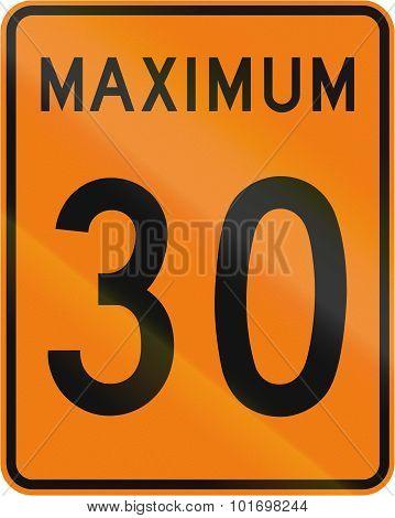 Temporary Maximum Speed 30 Kmh In Canada