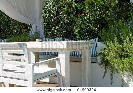 Resting corner in the garden