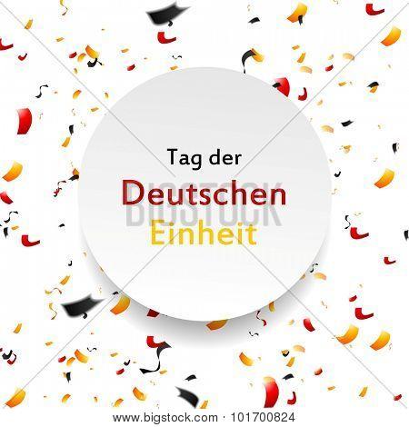 Tag der Deutschen Einheit (eng. The Day of German Unity). Vector background