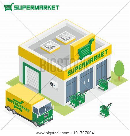 Supermarket building