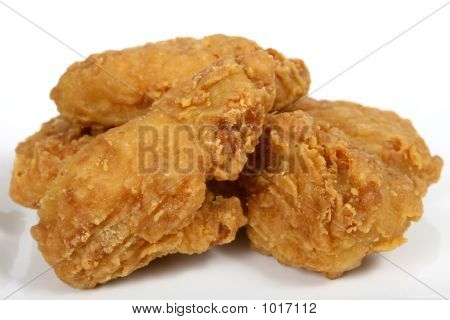 frittierte Fast-Food, Frühling Huhn in golden Zitrone Teig
