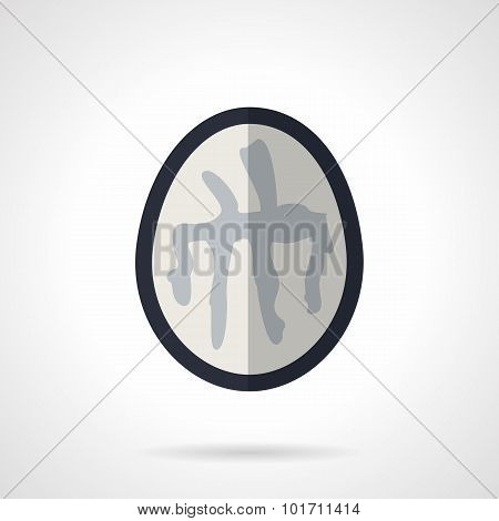 Brain CT flat vector icon
