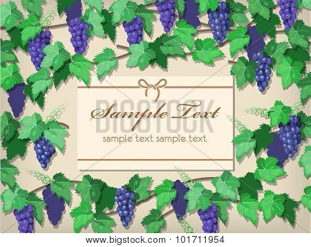 Wall With Grape Vine