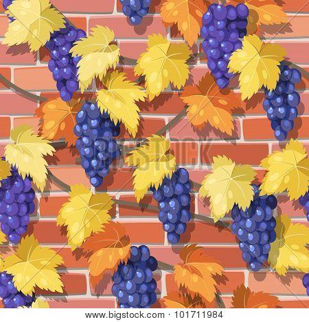 Seamless Vine On The Brick Wall