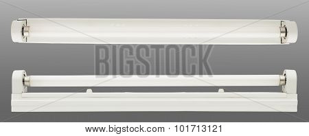 Fluorescent Tube On White Background