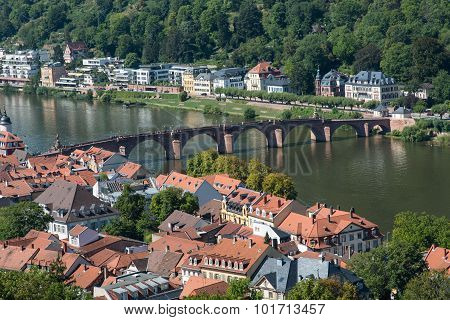 Cityscape  Of The City Of Heidelberg In Germany