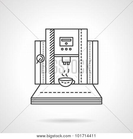 Coffee shop equipment line vector icon