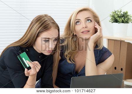 Two Women Shopping Online