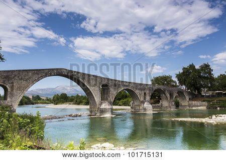 The Bridge Of Arta Is An Old Stone Bridge That Crosses The Arachthos River In The West Of The City O