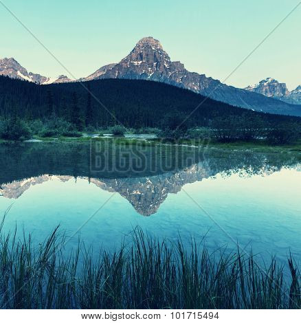 Serenity lake in Canada.